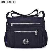 JINQIAOER Nylon Women Messenger   Bags   Designer Handbags Waterproof Casual Shoulder   Bags   Multi-pocket Zipper   Crossbody     Bags   Bolsas