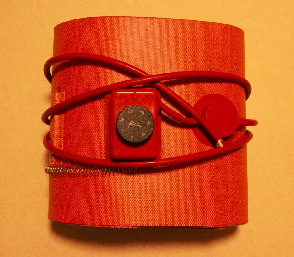 Réchauffeur Flexible de tambour d'huile de Silicone de 250*1740mm réchauffeur de silicium fûts de 55 gallons/200 litres garantie de 1 an et certifié