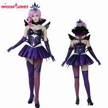 Lux elementalista ciemna Lux sukienka kostium Cosplay na Halloween