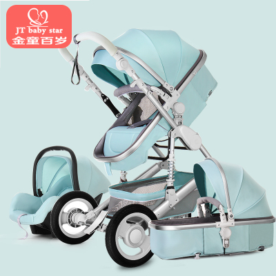Baby Stroller 3 in 1 with Car Seat For Newborn High View Pram Folding Baby Carriage Travel System carrinho de bebe 3 em 1 3