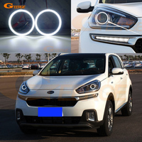 For KIA KX3 2015 2016 2017 PROJECTOR HEADLIGHT smd led Angel Eyes kit Day Light Excellent Ultra bright illumination DRL
