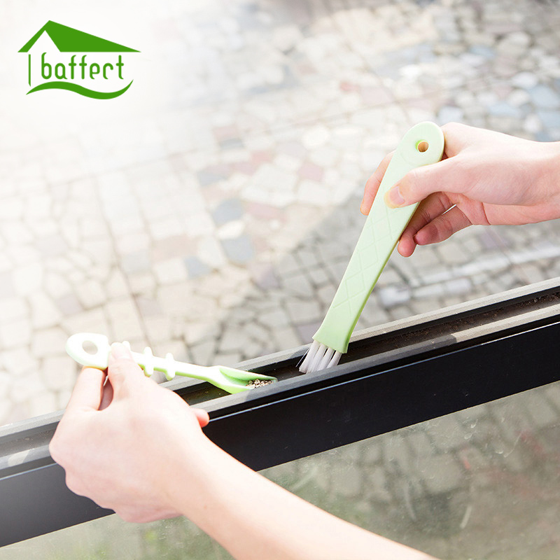 2 in 1 Multipurpose Window Groove Cleaning Brush With Dustpan Household Keyboard Home Ki ...