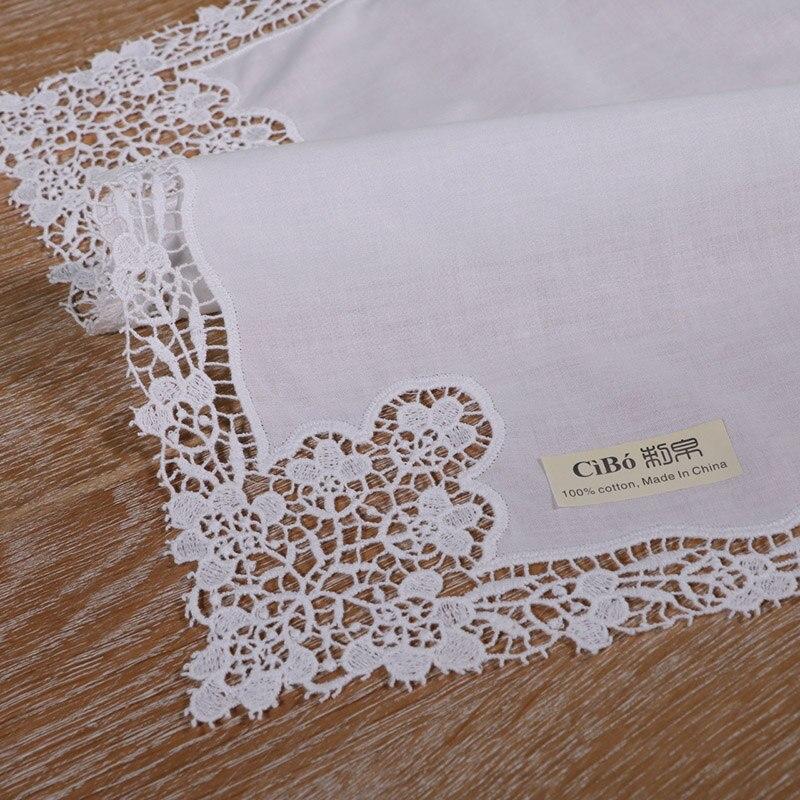 A002: blanco premium pañuelos de encaje de algodón crochet pañuelos ...