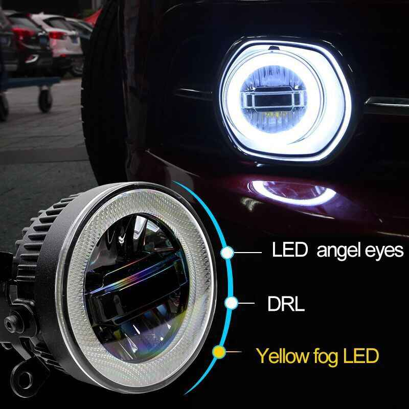 luckeasy 3in1 Highlight  Angel Eyes + LED Daytime Running Light + LED Fog Lamp Fog Lamp For Suzuki Vitara 2006 2009- 2015 2016