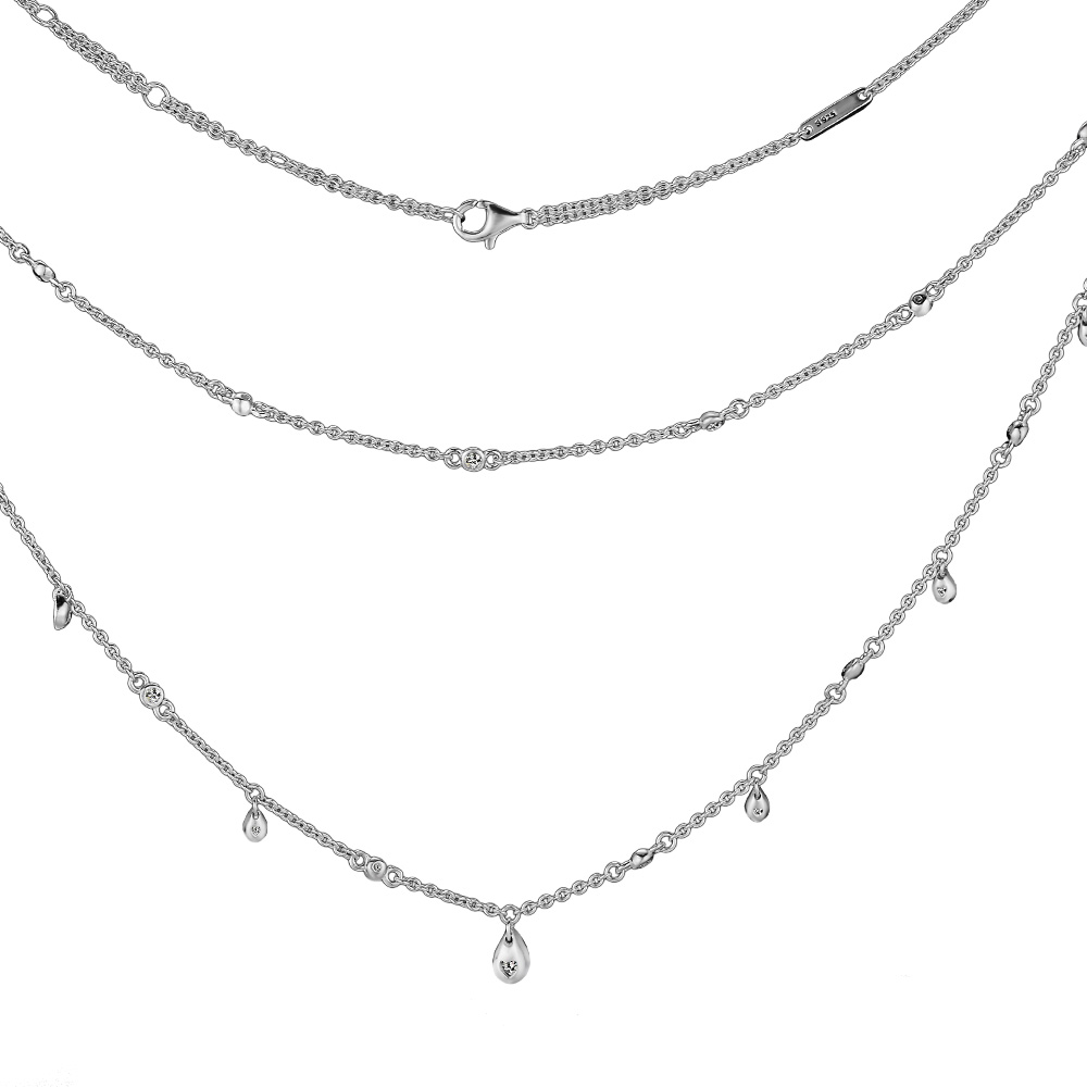 Authentic 925 Sterling Silver Chandelier Droplets Necklace for Women Gift Lover Wife gargantillas de plata 925 mujerAuthentic 925 Sterling Silver Chandelier Droplets Necklace for Women Gift Lover Wife gargantillas de plata 925 mujer