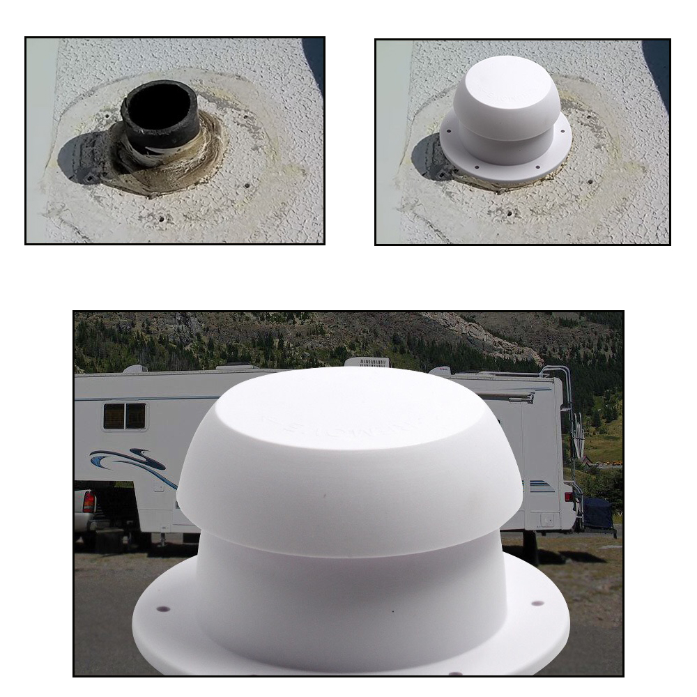 Jeazea 1pc New Abs Plastic White Air Outlet Vent Cap Fit