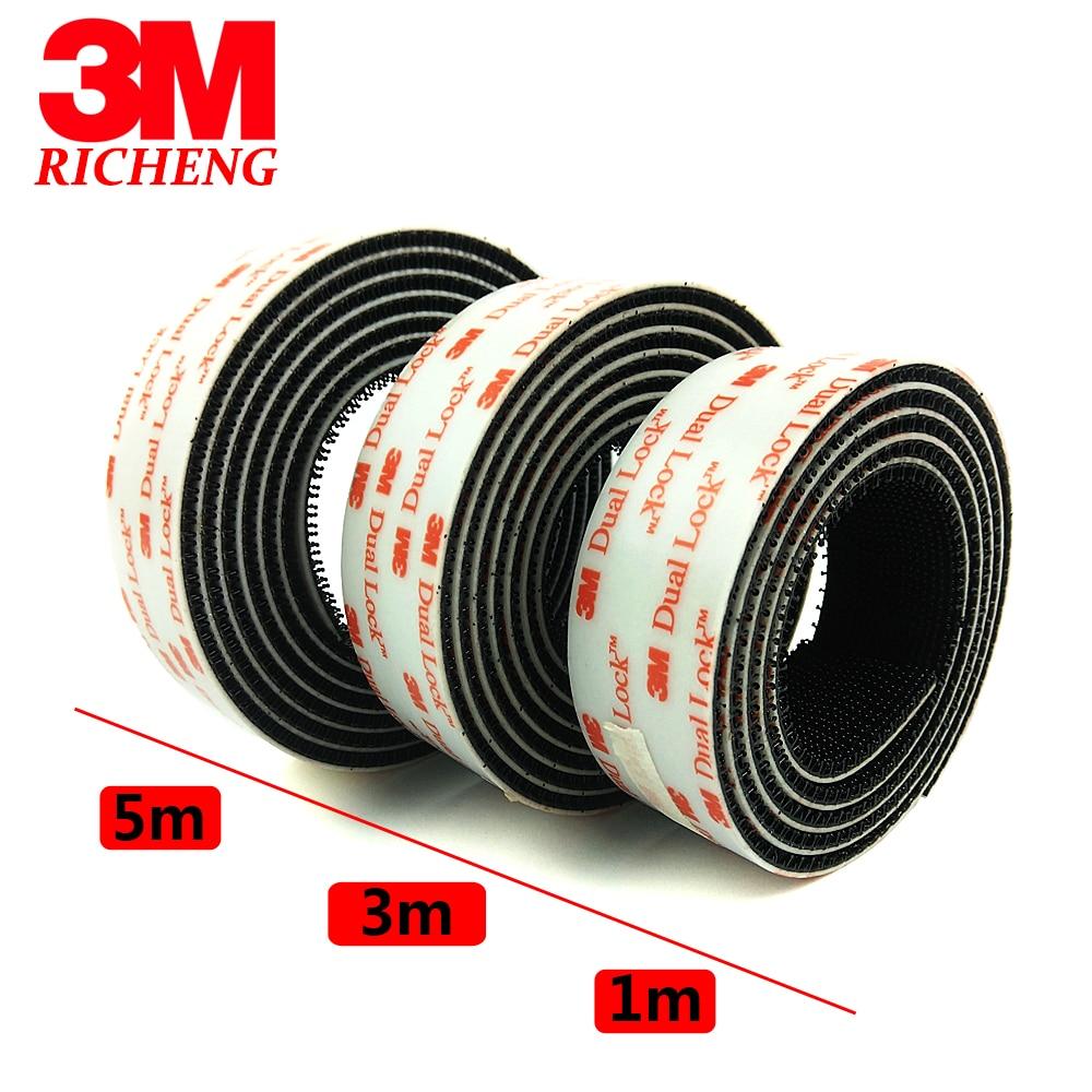 3M Dual Lock SJ3550 Black VHB Mushroom adhesive fastener tape, Type 2503M Dual Lock SJ3550 Black VHB Mushroom adhesive fastener tape, Type 250