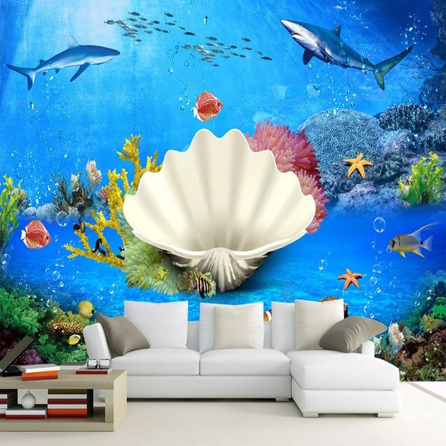 Custom Mural Wallpaper Underwater World Landscape Photo Wall Murals Kids Bedroom Living Room Backdrop Papers Papel