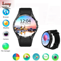Looy KW88 3G WIFI GPS Smart Watch Android 5 1 OS MTK6580 CPU 1 39 Inch