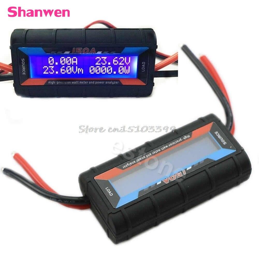 1 Pcs Digital Wattmeter High Precision Power Meter Dc 60v 100a Rc Watt Voltage Current Balancer Battery Analyze 150a W