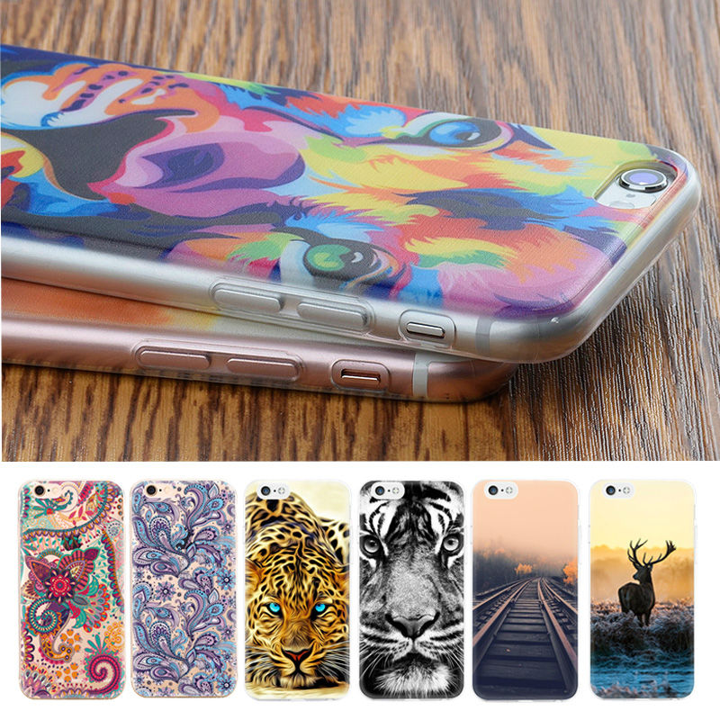 TPU Cover Phone Case For iPhone 6 6S 7 5S SE 5C 4S 4 For Samsung Galaxy S6 S7 Edge S5 J5 J3 A7 A3 A5 2016 Silicon Phone Bags