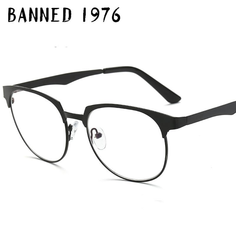 BANNED 1976 Frame Brand Designer Business Men Frame Glasses Spectacle Frame Eyeglasses Anti-fatigue Computer Reading Glasses