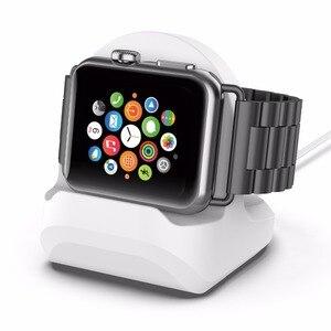 Image 5 - Iwatch 수직 충전 홀더 용 실리콘 충전 스탠드 iwatch3/4 universal 용 apple watch 충전 스탠드