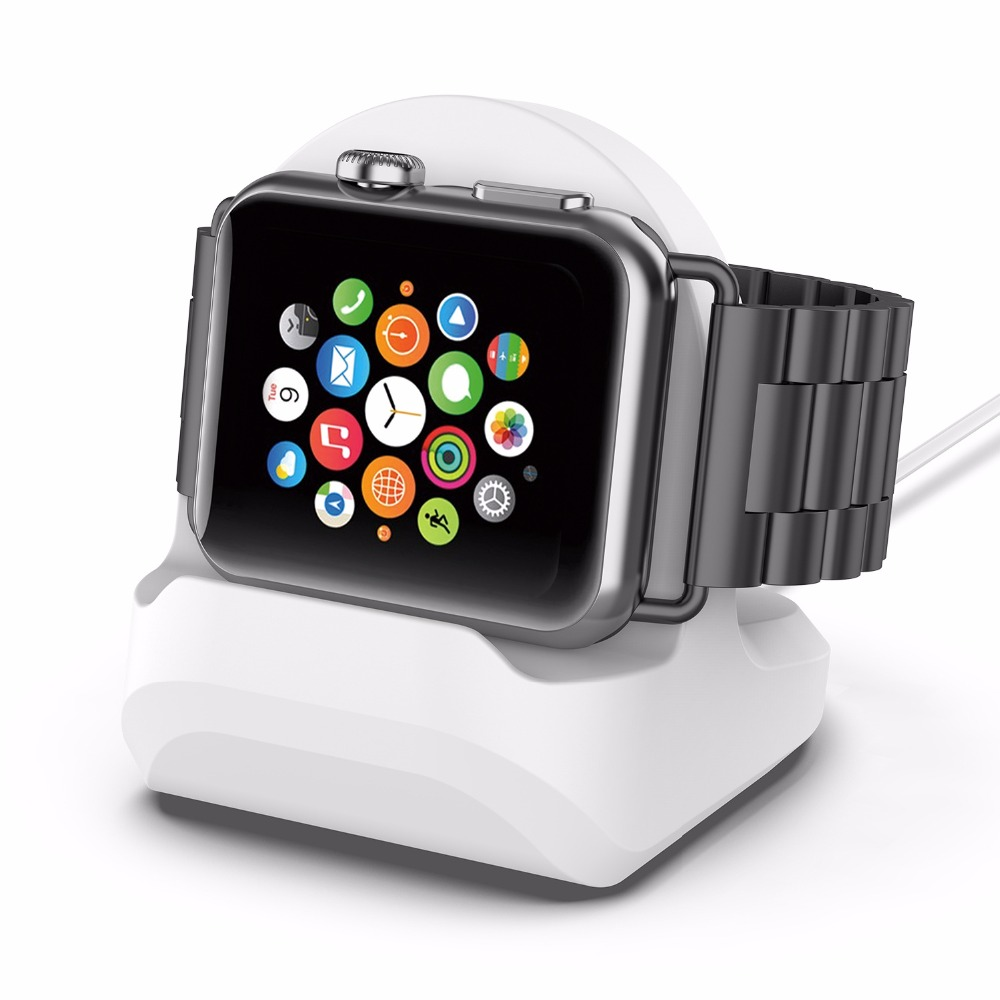Image 5 - Silicone Charging Stand for iwatch Vertical Charging holder Applicable Apple Watch Charging Stand for iwatch3/4 Universal-in Smart Accessories from Consumer Electronics