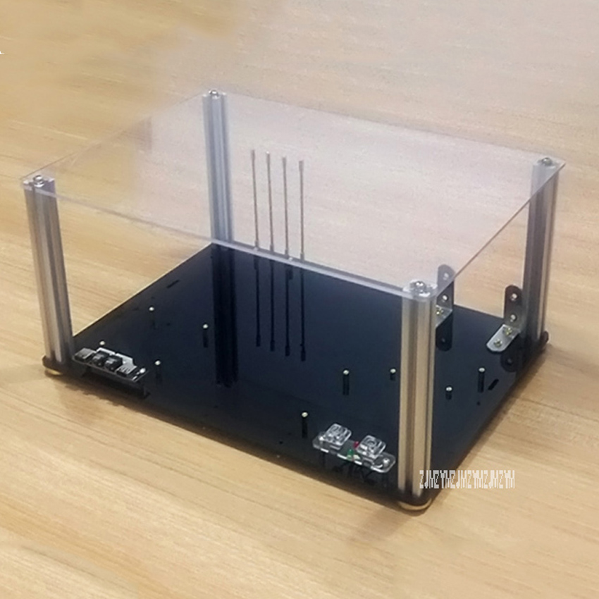 цены DIY Personalized Full Transparent Acrylic Computer Chassis Rack Desktop PC Computer Case for ATX Motherboard Mainboard