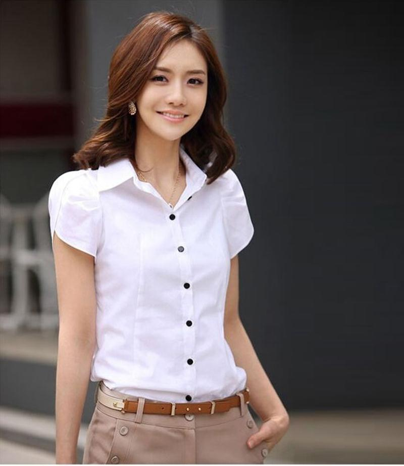 HTB1nQbmKFXXXXXQXVXXq6xXFXXXy - High Quality Fashion Womens short-Sleeve Chiffon Shirt