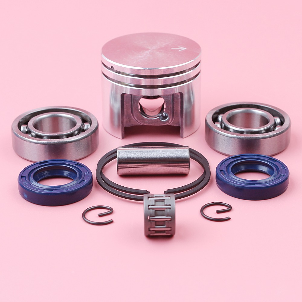 38mm Piston Ring Pin Circlip Kit With Crank Bearing Oil Seal Needle Bearing For Stihl MS180 018 MS 180 Chainsaw Parts