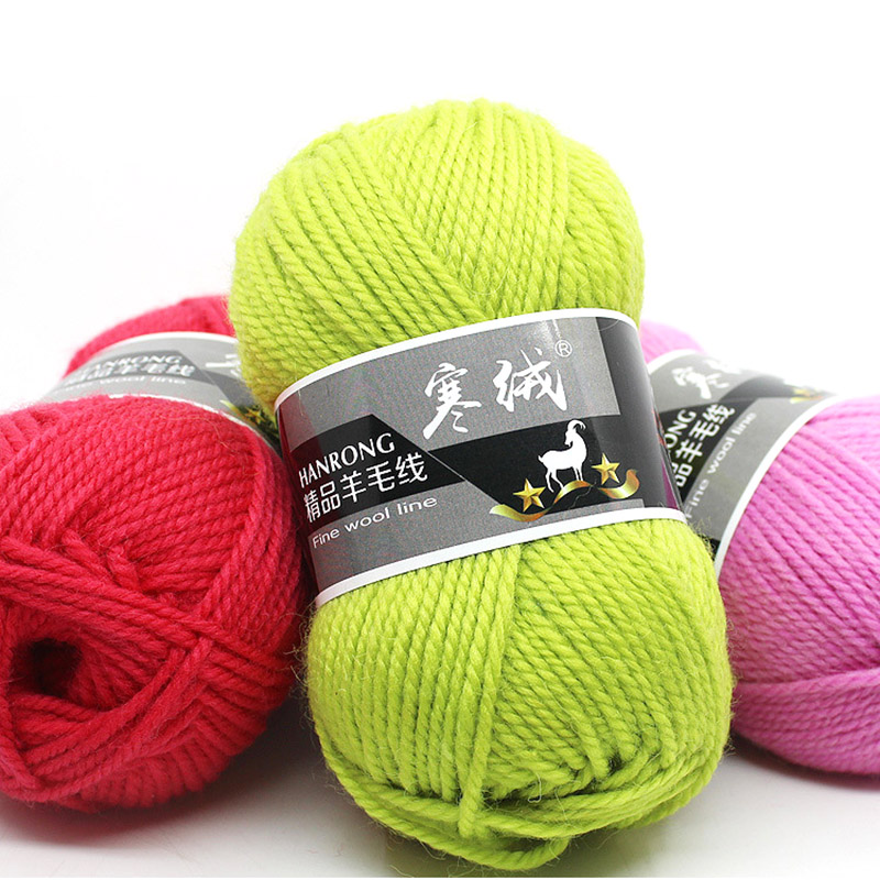 Image 5 - Top Quality 5pcs=500g 60color Merino Wool Knitted Crochet Knitting Yarn Sweater Scarf Sweater Environmental ProtectionYarn   -