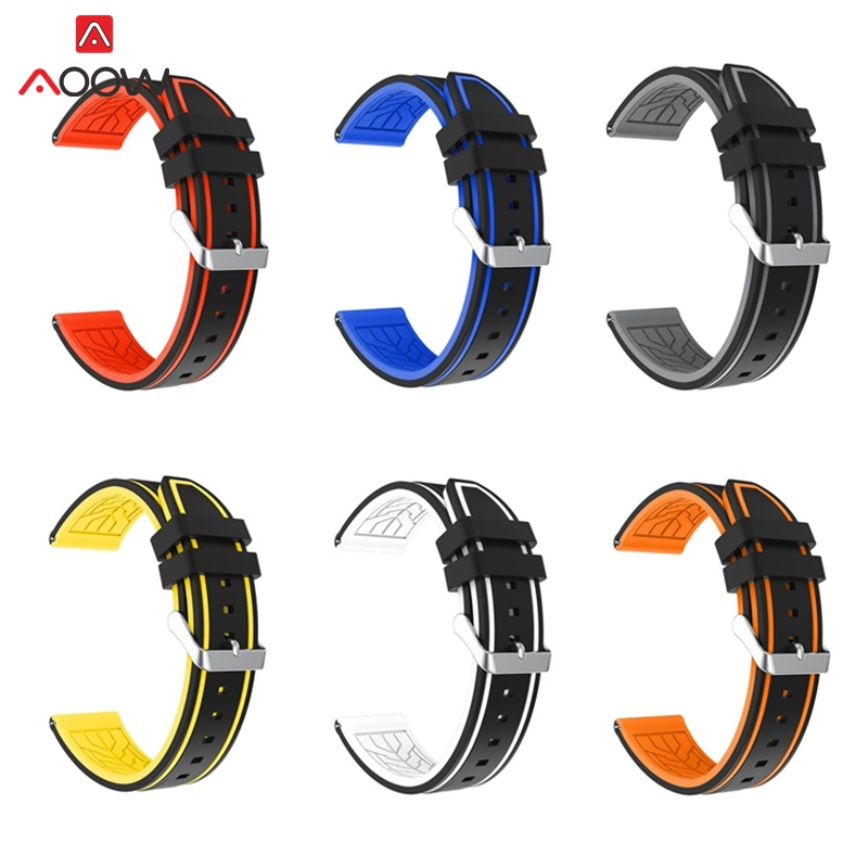 Generic Silicone Watchband Rubber Diving Waterproof Replacement Bracelet Band Strap Watch Belts 20mm 22mm 24mm 26mm 2019 New