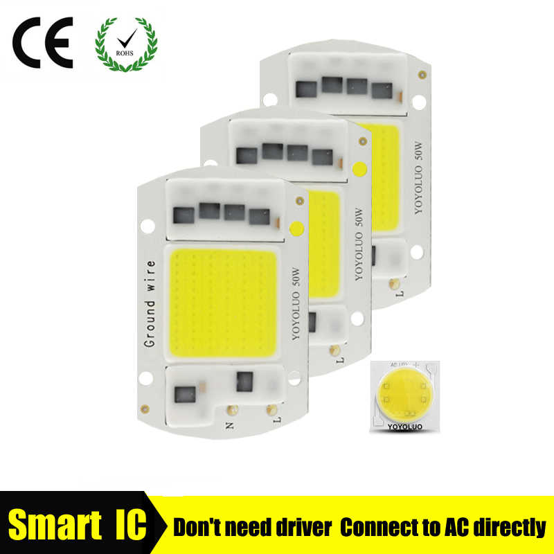 [YOYOLUO] Высокая мощность COB светодиодный чип лампы 220 В Smart IC без драйвера COB светодиодный Диод Светодиодный светильник прожектор Точечный светильник 5 Вт 15 Вт 20 Вт 30 Вт 50 Вт