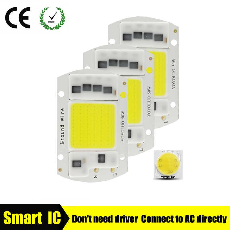 [YOYOLUO] Haute Puissance COB lampe à LED Puce 220 V Smart IC Aucun Pilote COB LED diode LED Ampoule Projecteur de Lumière D'inondation 5 W 15 W 20 W 30 W 50 W