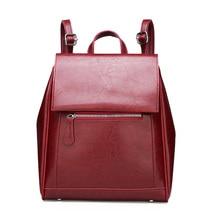цена на PU Leather Women Backpack Casual School Backpack For Teenager Girls Large Capacity Multifunction Backpack Shoulder Bag