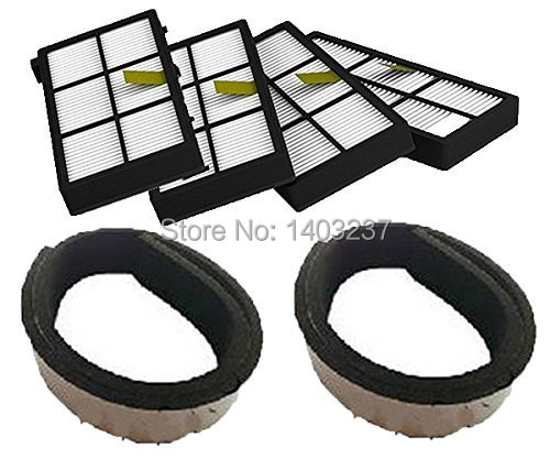 4 pack HEPA Filter filters 2 Plastic Bumpers Guard Black Pad For iRobot Roomba 800 series 870 880 900 series 980 3 pack bonded filter pad color white size 312 sq inch catalog category aquatics filter media