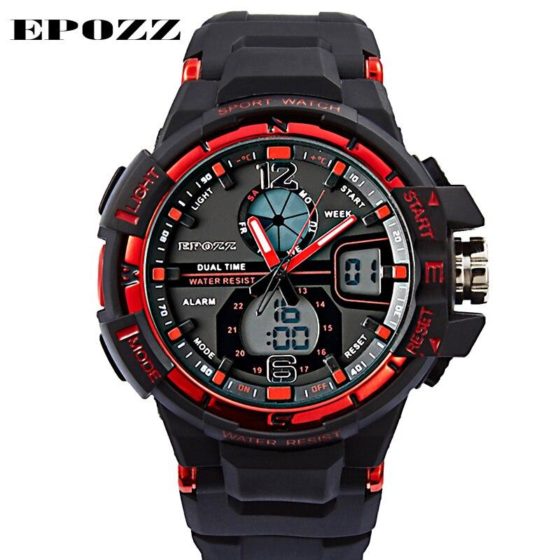 Digitale Uhren Epozz Männer Sport Militär Uhren Led Digital Mann Marke Uhr 5atm Dive Swim Kleid Fashion Outdoor Jungen Elektronische Armbanduhren Uhren
