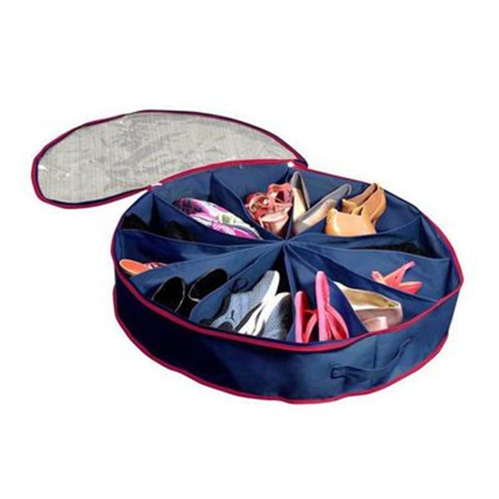 12 células de PVC zapatos transparentes bolsa de almacenamiento no - Organización y almacenamiento en la casa