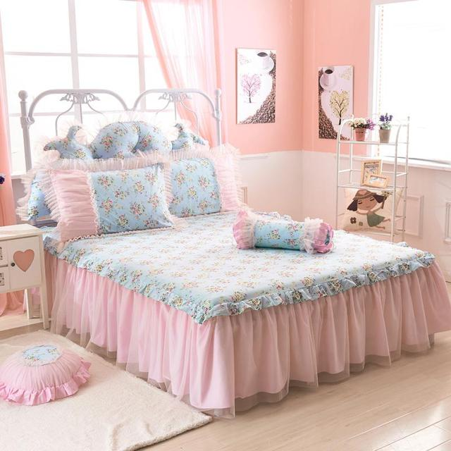 Pink and Blue Full over full bed colcha 5c64f6f949b38