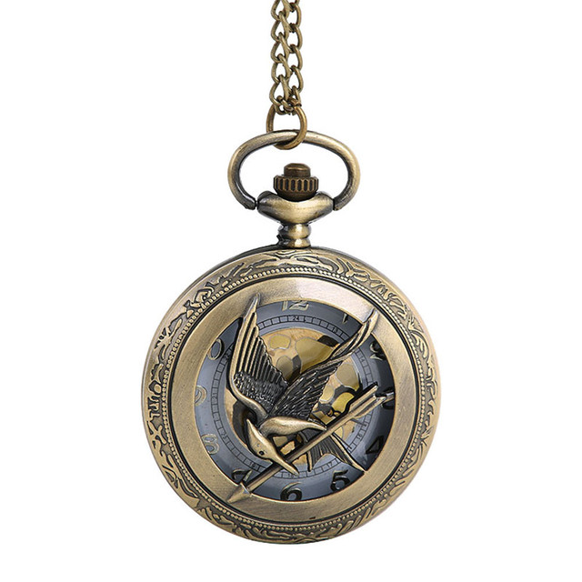 2018 NEW Bird and Arrow Pocket watch Vintage Gold Dial Clock Watch male Retro Qu