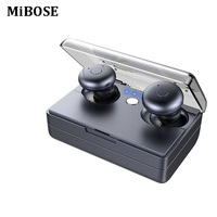 MiBOSE Business Bluetooth Earphones Wireless 3D Stereo Headphones Headset And Power Bank With Microphone Handsfree Calls