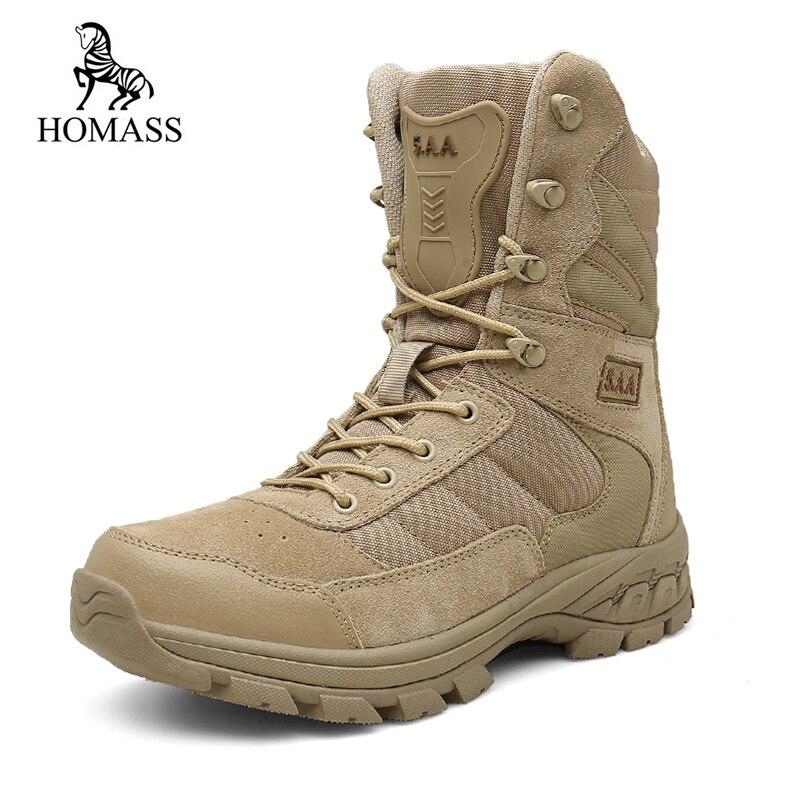 HOMASS/зимние армейские ботинки, мужские военные ботинки-дезерты, мужские высокие дышащие зимние армейские ботинки, Botas Tacticos Zapatos