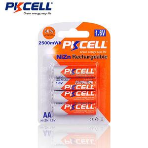 Image 4 - Pkcell 1パック/4個1.6v NI ZN aa 2500mwh充電式バッテリー + 1パック/4個aaa電池900mwhおもちゃマイクラジオ