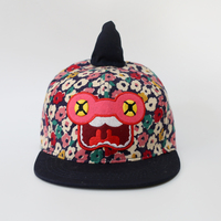 kids baseball hats summer cotton colorful flower print fashion outing sun protection caps boys girls cute unicorn holiday visor