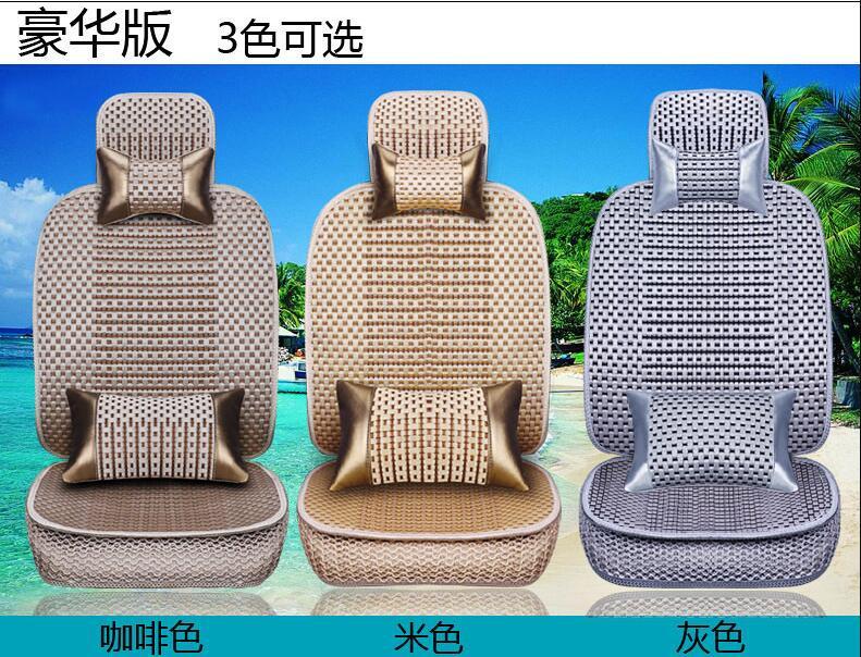 La almohadilla de cojín de coche de tamaño universal se adapta a la mayoría de autos solo cojín para asiento frío de verano cuatro estaciones en general cubierta de asiento de coche - 5