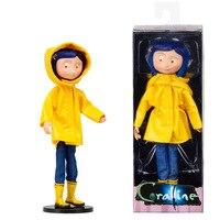 NECA Children's toys Coraline & the Secret Door dolls, action figure 7 inch raincoats VERSION Caroline Girl Christmas gift