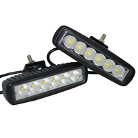 2pcs White Black Housing Spot Offroad 18W LED Off Road Work Lamp 18w LED Worklight Lamp