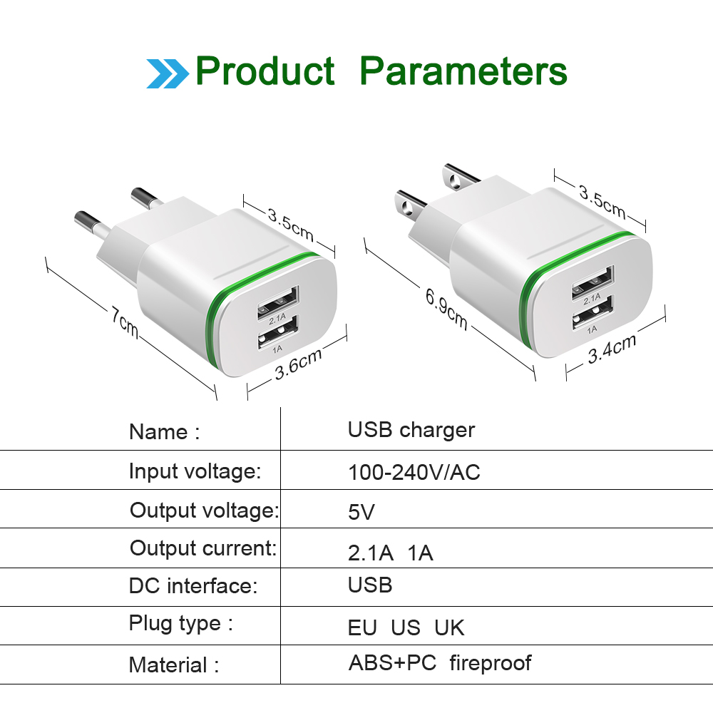 Olaf-Dual-USB-Charger-EU-US-Wall-Charger-for-Huawei-Samsung-Xiaomi-iphone-7-Mobile-Phone