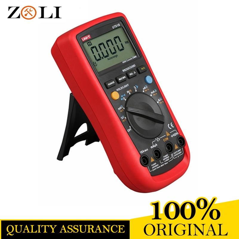 UNI-T UT61B 3999 Count Auto Power Off LCD Backlight DMM Digital Multimeters with Temperature Test UNI-T UT61B ON SALE цена