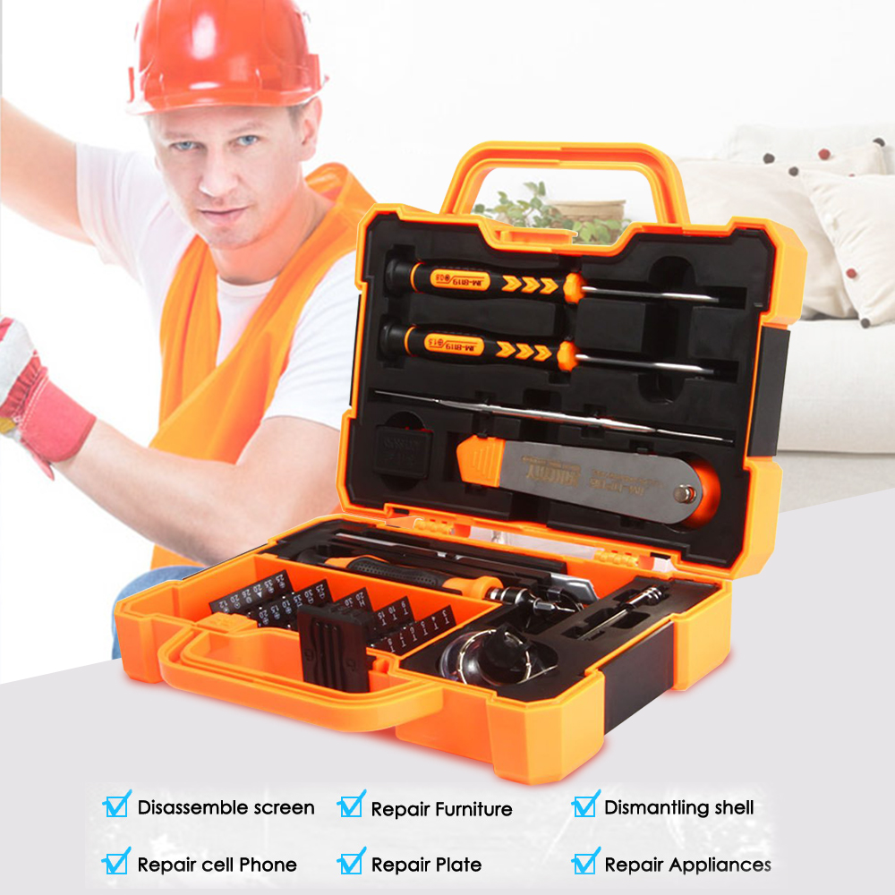 $27.12 45 in 1 Professional Precision Screwdriver Set Hand Tool Box Set Spudger Tweezers Opening Tools for iPhone PC Repair Tools Kit