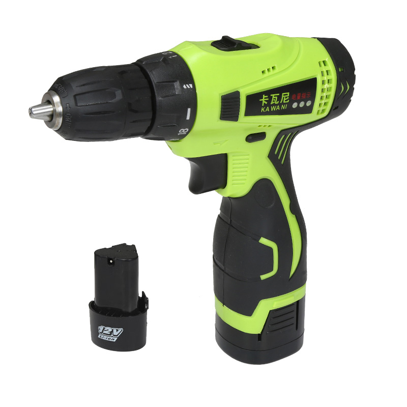 12V Electric Screwdriver with Drill bits Kit Two Speed Cordless Electric Drill Rechargeable Battery Adjustable Power tools prostormer 3 6v usb charge adjustable hand electric cordless screwdriver for battery power tools 26 drill bits with led ta0199