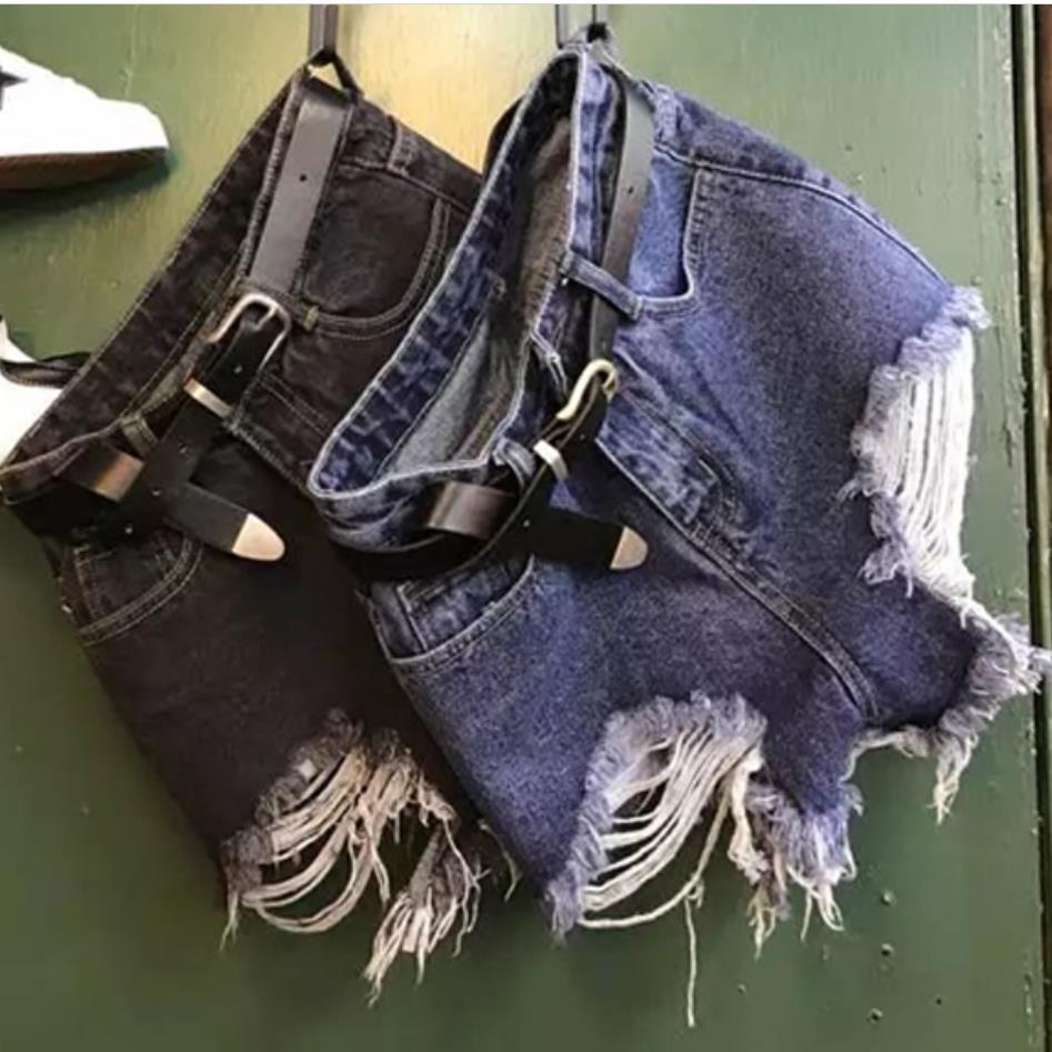 2019 Sommer Mode Frauen Unregelmäßige Dünne Denim Shorts Hohe Taille Gerade Fransen Jeans Shorts Modernes Design Gepäck & Taschen