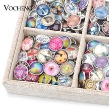 Кнопка оснастка ювелирной оптовый товар по выгодной цене 50 шт./пакет случайный 18 мм Стекло кнопки талисманы Vn-1415