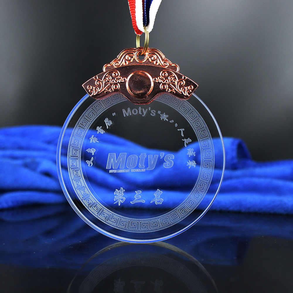 Персонализация «сделай сам» Хрустальная медаль Стекло трофейные награды для Выпускной особый сувенир подарок