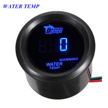 EE support 52mm Water Temp Gauge Motor Car Accessories Black Cover Blue LED Digital Water Temperature Meter With Sensor XY01