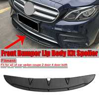 Glossy Black / Carbon Fiber Look Universal Car Front Bumper Lip Spoiler Diffuser Fins Body Kit Car styling For Benz For BMW