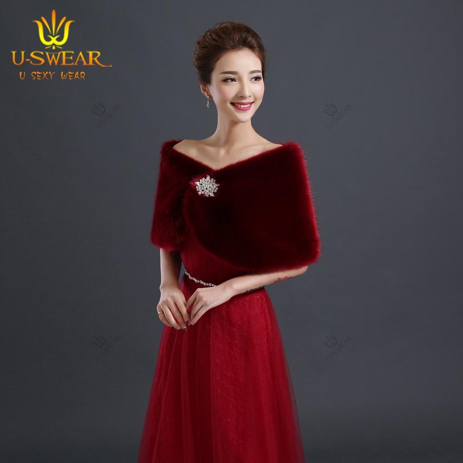Bolero Rouge Mariage concernant de mariée de luxe vestes de fourrure bordeaux bolero mariage wrap