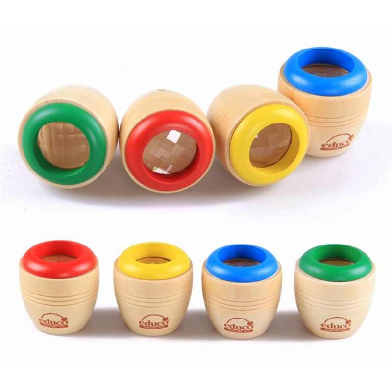 Classical Wood Bee-eye Interesting Effect Magic Kaleidoscope Baby Montessori Learning Early Educaional Toys Send Randomly