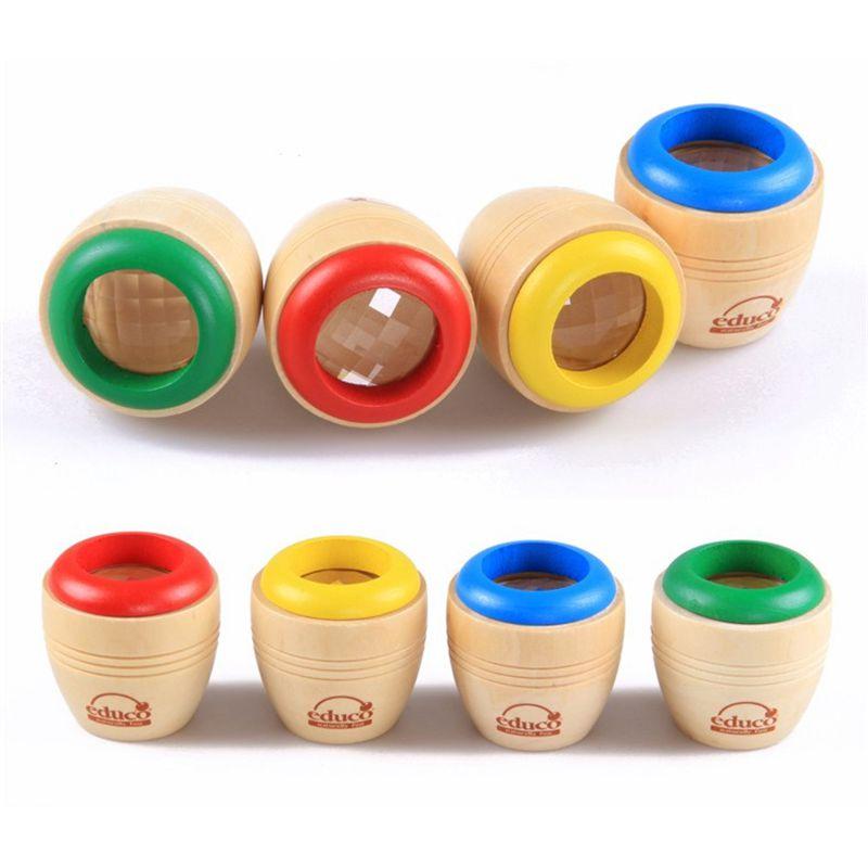 Classical Wood Bee-eye Interesting Effect Magic Kaleidoscope Baby Montessori Learning Early Educaional Toys Send Randomly